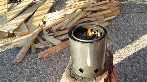 wood stove paint can gasifier