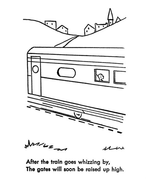 railroad safety coloring pages train crossing coloring