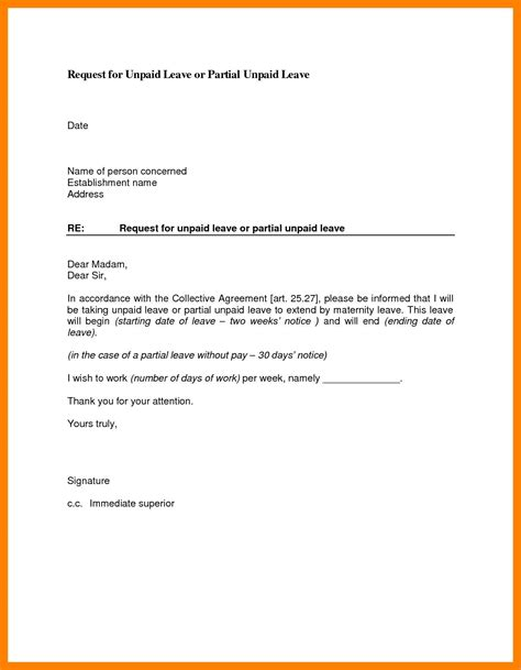 sample leave pictjres save leave request letter sample
