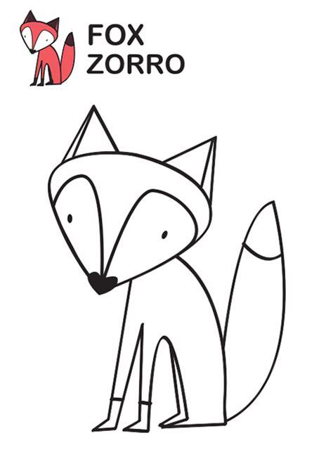 imagenes de un zorro para dibujar faciles dibujos para colorear bonito zorro para colorear