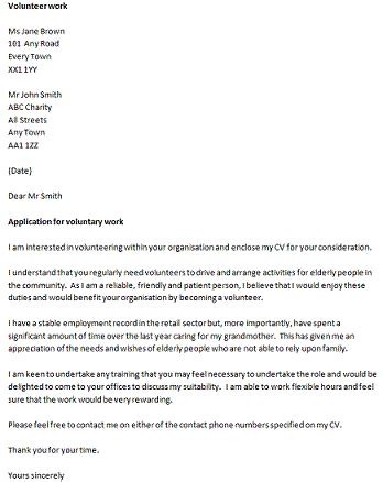 Cover Letter To Volunteer by Volunteer Cover Letter Exles Uxhandy