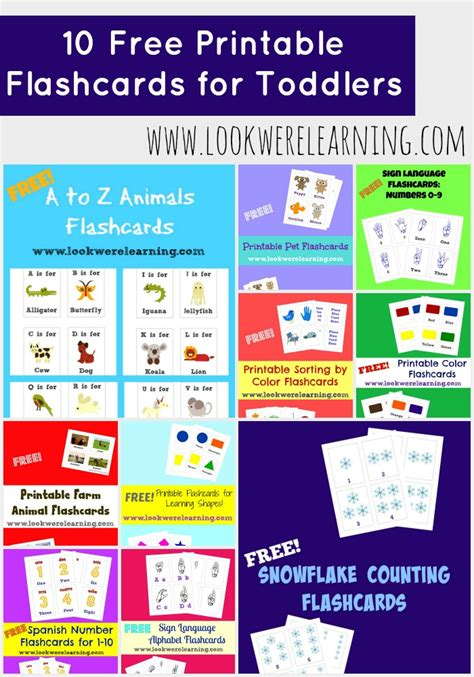printable learning flashcards for toddlers 10 free printable flashcards for toddlers