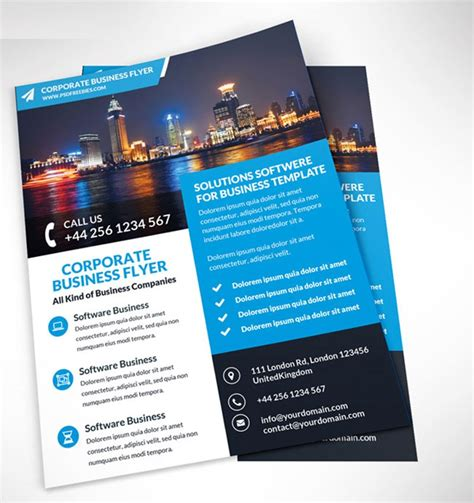 free flyer brochure templates 25 best free corporate brochure template design psd