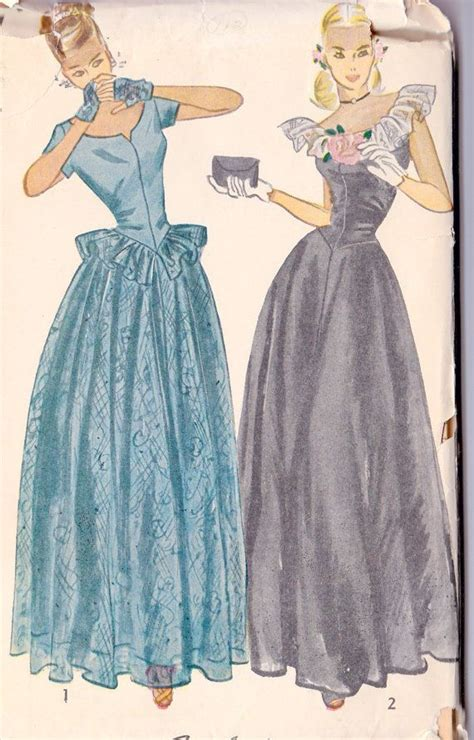 pinterest gown pattern 1940s prom dress evening gown ball gown 1940s sewing