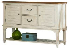 dining room server weathered sand amp white two tone finish dining room servers buffets tables