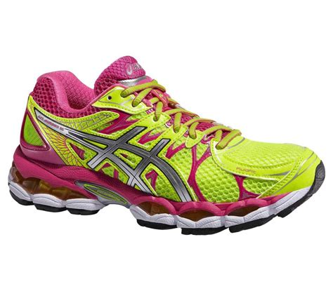 asics gel nimbus  womens running shoes yellowpink