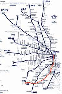 Chicago Metra Train Map by Metra
