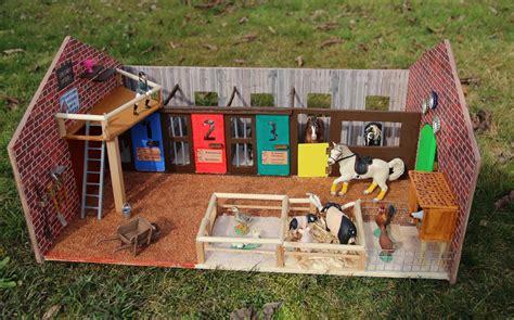 selbstgebauter schleich stall pferdestall selber bauen pferdestall pferdebox und