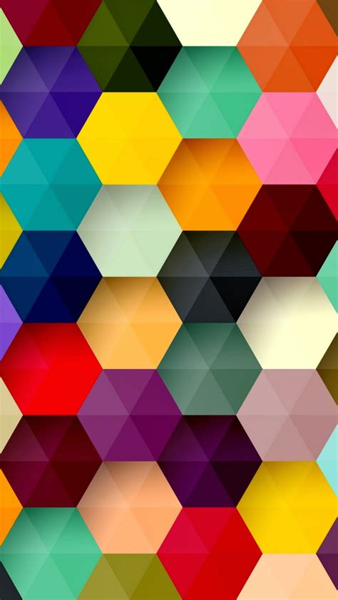 colorful wallpaper for android mobile hexagon colorful abstract android wallpaper best andro