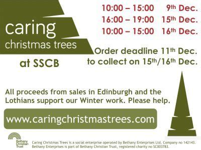 caring christmas trees at sscb st stephen s comely bank