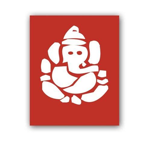 hindu god ganesh fine art print ganesh silhouette red
