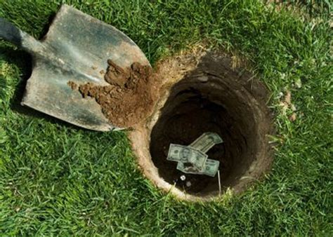 Can You Bury Your In Your Backyard by Some Places Hide Their Money