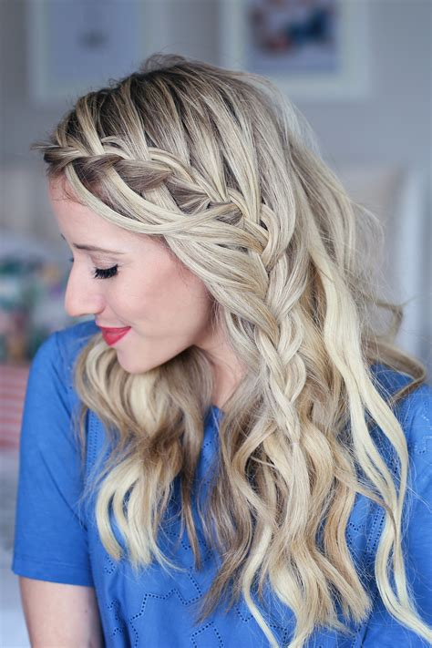 easy cascading braids hairstyles 3 in 1 cascading waterfall build able hairstyle cute
