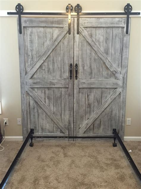 diy barn board headboard cheaper and better diy barn door headboard and faux barn door track hardware for the home