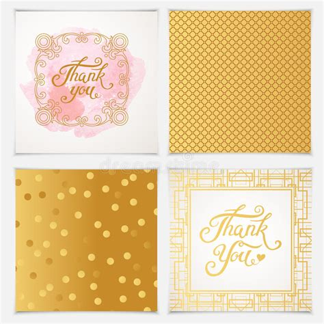 thank you card template free vector thank you card templates with pink seamless