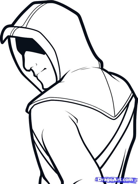 easy drawing how to draw altair easy assassins creed step by step characters pop