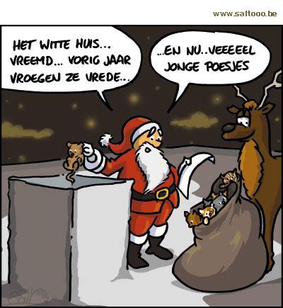 witte huis kerst cartoon de kerstman komt ook langs in het witte huis