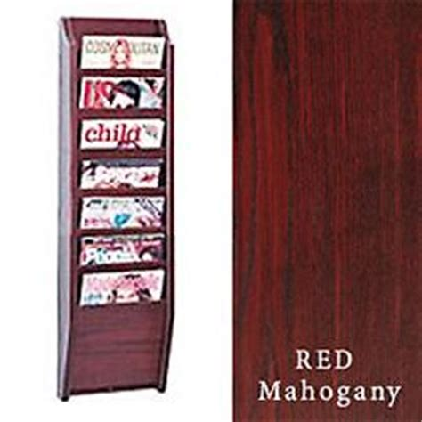 Olc Classic Mahogany Magazine Rack mahogany literature stands features wall hanging design