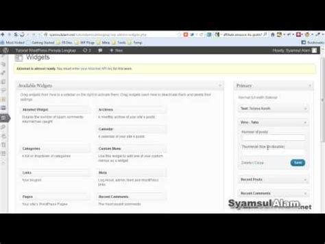 tutorial wordpress com pdf tutorial wordpress cara menambahkan widget dan fungsinya