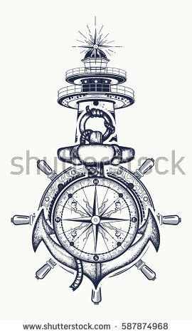 25 beautiful anchor compass tattoo ideas on pinterest