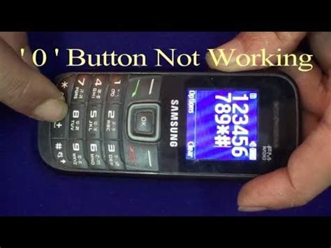 samsung gt e 1205t 0 button not working how to fix