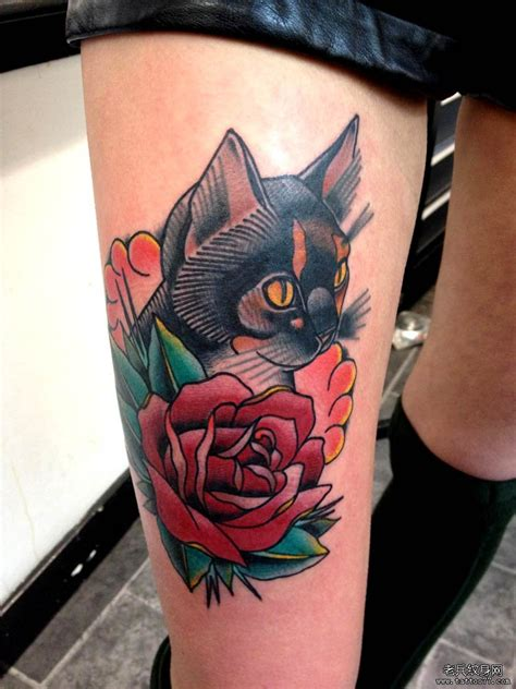 tattoo old school gato oldschool花纹身手稿 oldschool纹身小图拼接 old school手稿黑豹 school风格纹身手稿