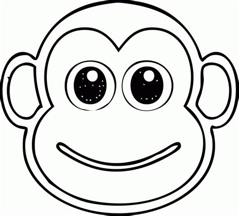coloring page of a monkey face fleabag monkeyface free colouring pages