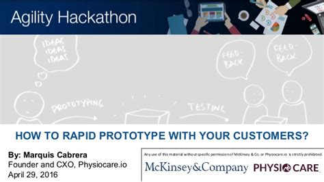 How To Get A At Mckinsey Without Mba by Mckinsey Agility Hackathon How To Rapid Prototype With