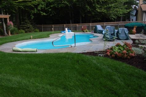 inground pool patio ideas small yard pool landscaping swimming pool designs small pool ideas stone patios solon hudson chagrin falls oh hoehnen