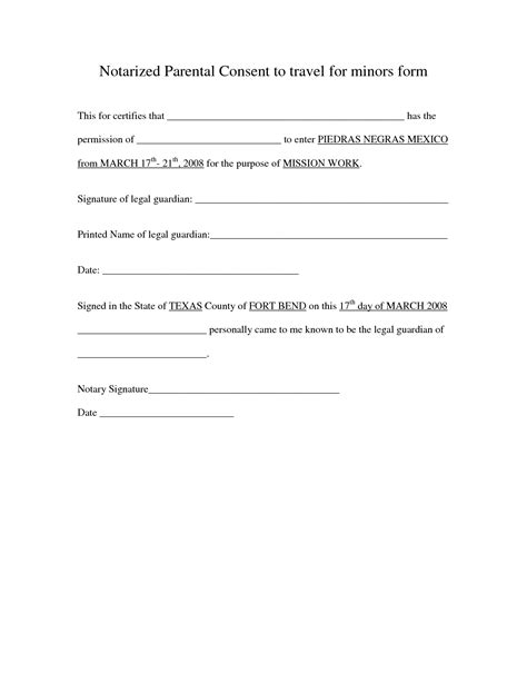 Parental Consent Letter Sle Child Travel parental consent letter 10 parental consent form for