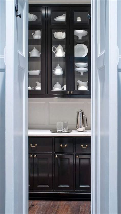 black kitchen pantry cabinet glossy black butler s pantry cabinets kitchen dining