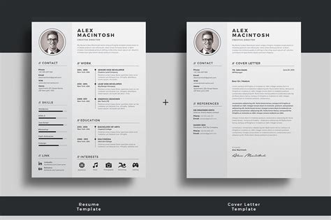 Premium Indesign Templates 100 indesign letter template resume cv cover letter