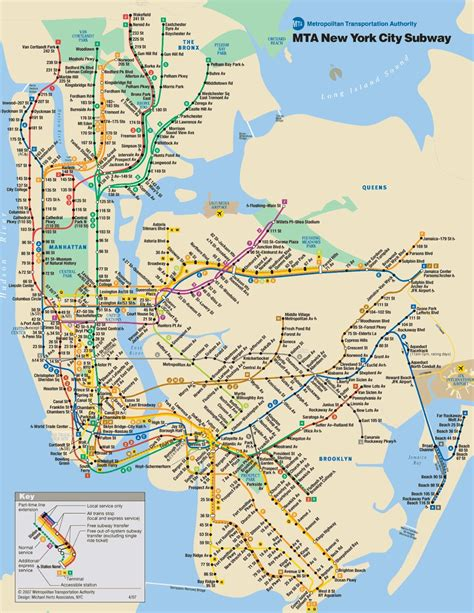 subway map new york city map nyc tourist