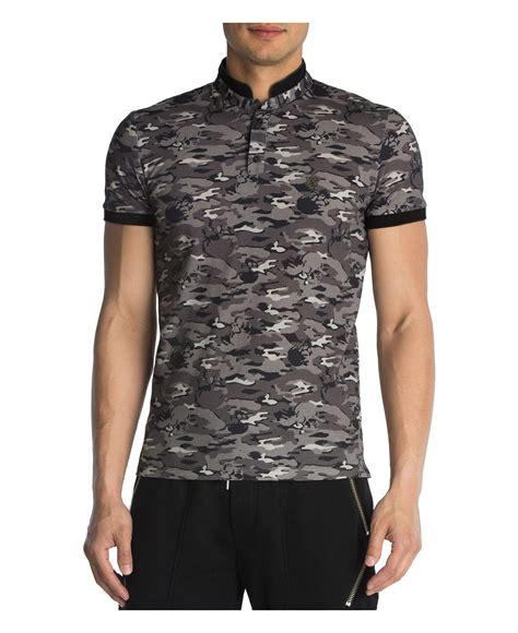 Polo Grey Army lyst the kooples pique army print regular fit polo in