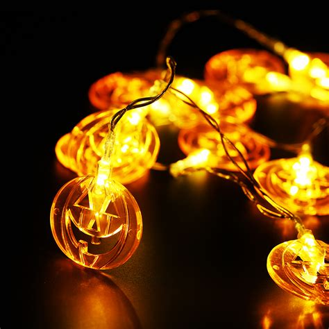pumpkin light flat pumpkin 10 led lights string l