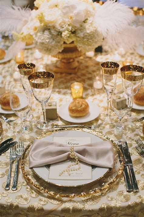 Silver Wedding Decorations by Glamorous Gatsby Inspired White And Gold Wedding 187 Napa