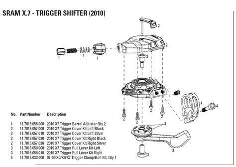 Sram X7 Shifter Diagram