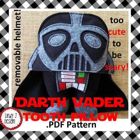 darth vader tooth pillow pdf pattern