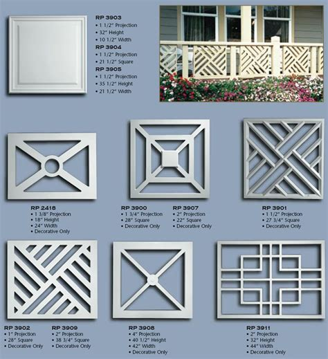 design pattern rails balustrade panels http www vintagewoodworks com poly