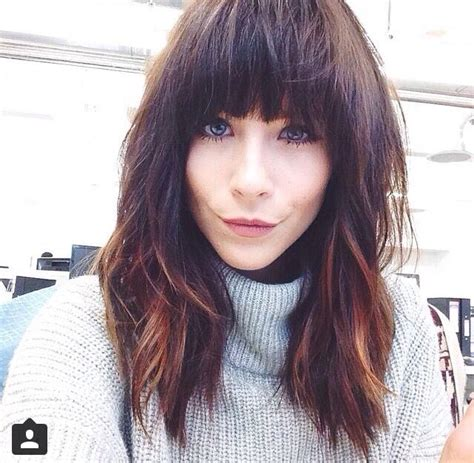 hairstyles with fullness the 25 best fringe hairstyles ideas on pinterest