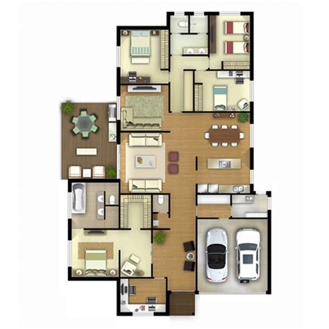 rendered floor plans archiview