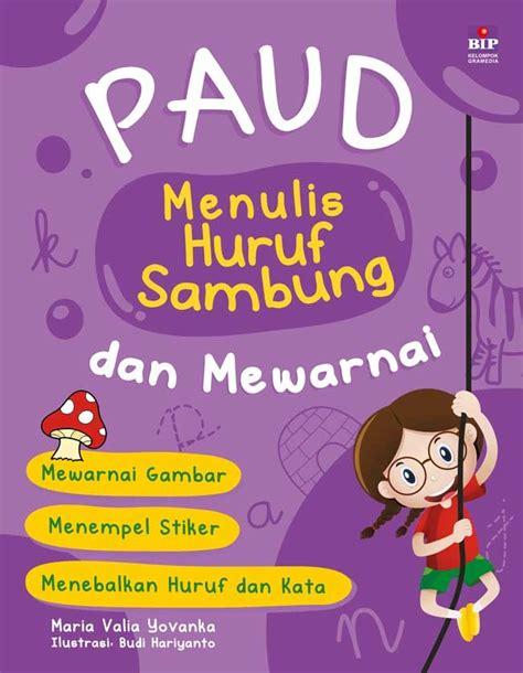 Buku Belajar Huruf Sambung paud menulis huruf sambung dan mewarnai bukubukularis