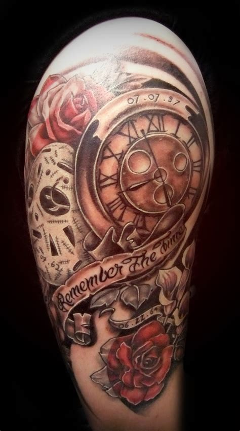 clock half sleeve tattoo designs clocks half sleeve designs for new style for