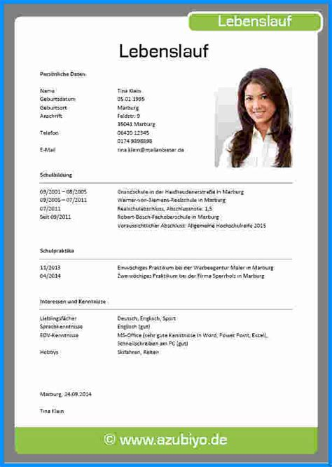 Lebenslauf Fur Student lebenslauf f 252 r sch 252 ler business template