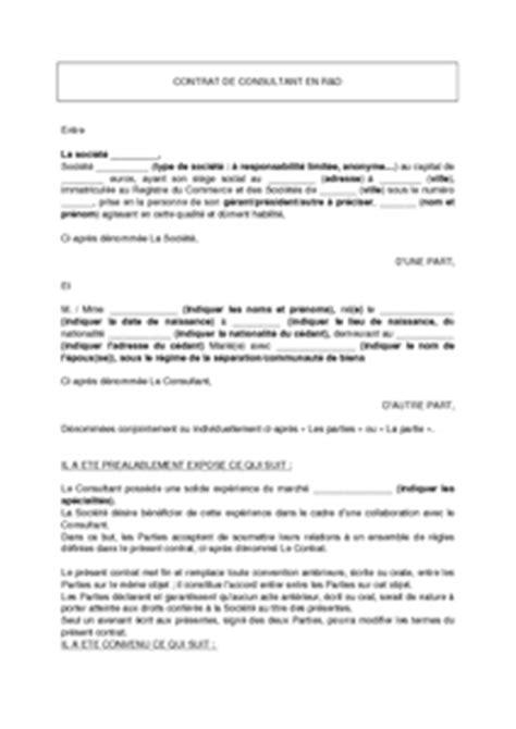 exemple de lettre gratuit de mod 232 le contrat consultant en