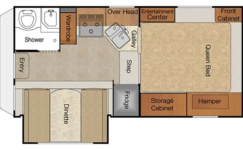 lance rv floor plans lance 855s truck cer amazing functionality provided by the dinette slide in this bed