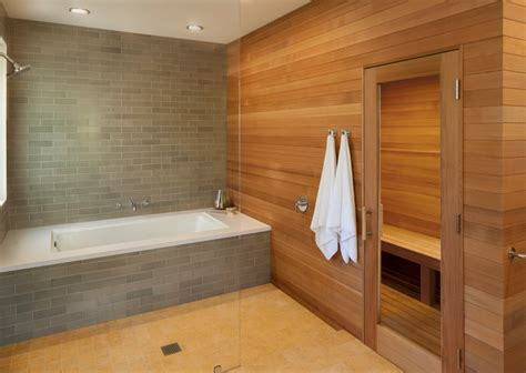 sauna bathtub hillsborough master bath modern bathroom san