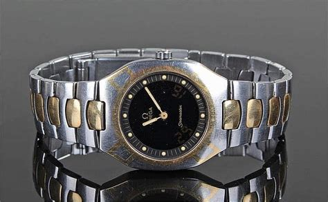 Gold Plated 707 omega seamaster gentleman s gold plated and stainl