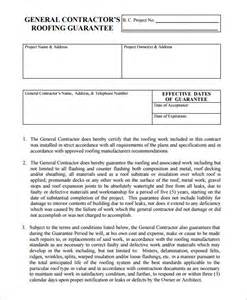 free residential roofing contract template 7 roofing contract templates free pdf format