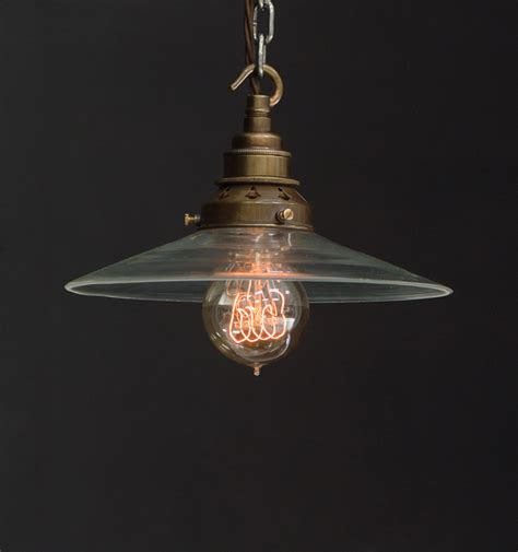 Industrial Pendant Light Shade Es Clear Glass Flat Shade Industrial Pendant Vintage Lighting